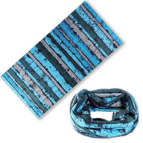 Бандана-трансформер с полосками - синяя