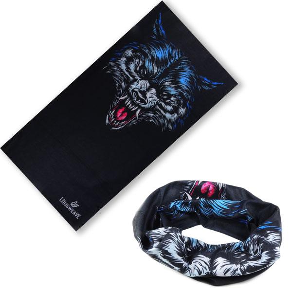 Мультибандана с изображением волка